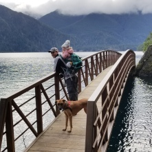 Hiking the Spruce Railroad Trail around Lake Crescent on the Olympic Peninsula