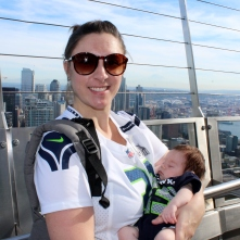Zoe's first Space Needle visit