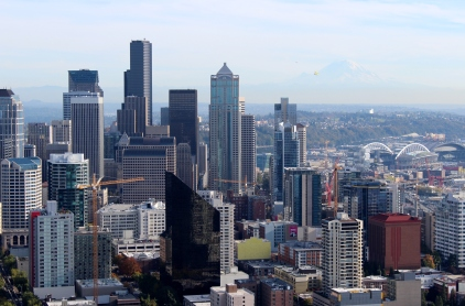 Downtown Seattle from the top of the Space Needle