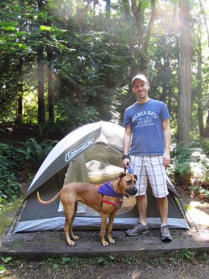 Camping at Illahee State Park