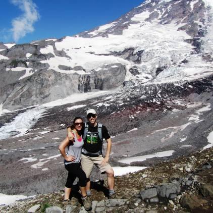 Hiking Syline Trail at Mt. Rainier