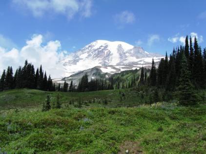 Hiking Skyline Trail at Mt. Rainier