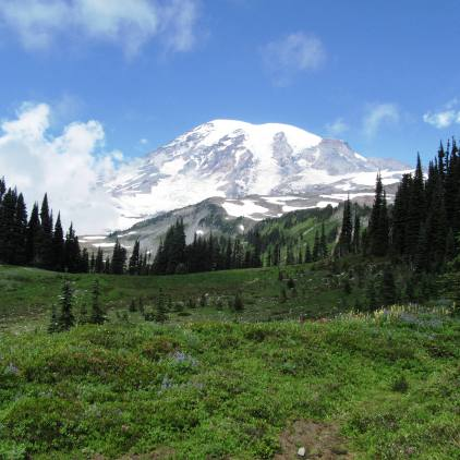 Hiking Skyline Trail at Mt. Rainier